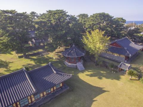 Aerial view of Jejuhyanggyo Confucian School